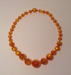 Topaz Moonglow Graduated Bead Necklace Retro by antiquesonchurch