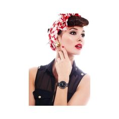 Watches ❤ liked on Polyvore featuring jewelry, watches, white watches, leather wrist watch, leather jewelry, retro jewelry and retro watches