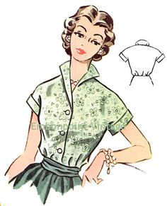 Plus Size or any size Vintage 1950s Blouse by EmbonpointVintage, $6.50