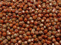 100pcs Czech FirePolished Faceted Glass Beads by BeadsFromCzech, Kč77.00