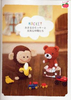 FREE Amigurumi Monkey and Teddy Bear Crochet Pattern and Tutorial (click on right arrow to get to free chart)