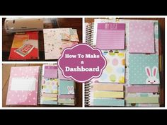 How To: Make A Dashboard For Your Erin Condren Life Planner - YouTube