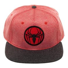 9aecb0213ac Spiderman Two Tone Cationic Red and Black Snapback Marvel Hats