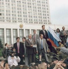 Yeltsin's bloodless coup overthrew Gorbachev's Soviet government on August 18, 1991.