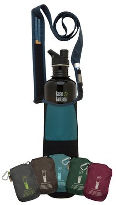 The Bottle Sling rePETe Glacier is the ideal day hike pack holds the 1 liter Smart water bottle, iPhone, lip balm, and chopsticks pocket. You never really know when you will need chopsticks, especially if you are trying to cut down on using single-use throwaway cutlery, 97% recycled content.