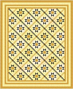 Yellow and Blue Stars.  This just rocked my quilt to do list off it's foundation!