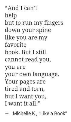 I'm starting to read you.. Loving the story weak knees.