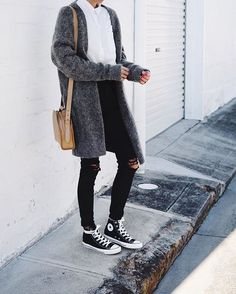 Outfits casuales y chulísimos con skinny jeans negros