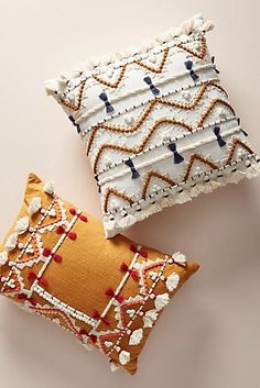 Vineet Bahl Embellished Pillow from Anthropologie - COWGIRL Magazine Boho Pillows, Diy Pillows, Accent Pillows, Decorative Pillows, Decorative Items, Target Pillows, Cushion Covers, Pillow Covers, Pillow Texture