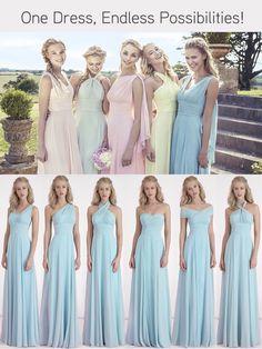 Love this bridesmaid dress idea... Teal?
