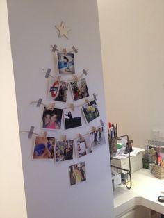 Arbol de navidad con fotos #navidad #christmas