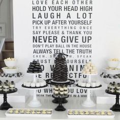 ] Birthday Black and White Dessert Table {Dessert Tables}