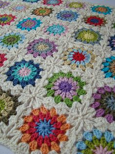 Granny square. My grandmother made a quilt out of all the leftover yarns from all the sweaters she made over the years.still keeps me warm!