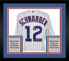 aea66725d1b Framed Kyle Schwarber Chicago Cubs Autographed White Authentic Jersey   sportsmemorabilia  autograph  jersey