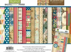 NEW Worldwide collection for Bazzill Basics Paper