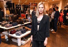 Sarah Brandner during the GraziaxTimberland Style Cocktail in Munich #model #actress #outfits #casual #black #overzise