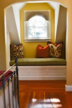 Custom built in bench fir floors
