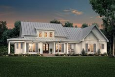 Modern Farmhouse Style House Plan 56717 with 2395 Sq Ft , 3 Bed , 2 Bath , 1 Half Bath Farmhouse Floor Plans, Modern Farmhouse Exterior, Modern Farmhouse Style, Farmhouse Homes, Farmhouse Design, Farmhouse Contemporary, Craftsman Farmhouse, Contemporary Bathrooms, Farmhouse Ideas