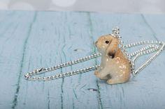 Lop Rabbit Kette - Anhänger Kaninchen - Kaninchen Schmuck - Lop Bunny Halskette - Bunny Schmuck - Kawaii Halskette - Hase Charm Anhänger - Bunny