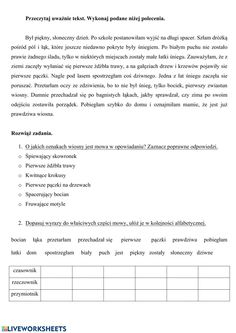 Wiosna interactive and downloadable worksheet. You can do the exercises online or download the worksheet as pdf. Polish Language, Forgot My Password, School Subjects, Google Classroom, Web Browser, My Teacher, You Can Do, Worksheets, Texts