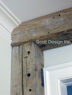 These BEAMS!  New 1850's Greek Revival Farmhouse - farmhouse - kitchen - new york - by Scott Design, Inc.