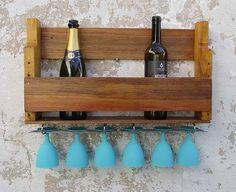 porta garrafas e taças simples - decoração agnolias