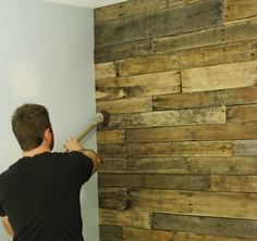 This fantastic focal wall was once several pallets.  There are so many uses for pallets it is astounding