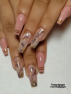 40 Fabulous Nail Designs That Are Totally in Season Right Now - clear nail art designs,almond nail art design, acrylic nail art, nail designs with glitter Nails 40 Fabulous Nail Designs That Are Totally in Season Right Now - Fabmood Best Acrylic Nails, Acrylic Nail Art, Best Nails, Baby Pink Nails Acrylic, Gold Coffin Nails, Blush Pink Nails, Acrylic Nail Designs Coffin, Orange Acrylic Nails, Pink Nail Art