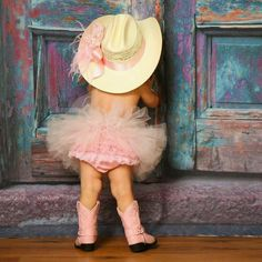 Minus the tutu but yes please on the cowgirl boots and hat and ruffle butt!!