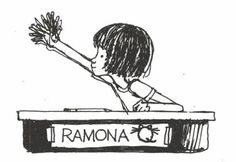 Illustration from Ramona the Brave Growing up, I think one of my favorite book series was the Ramona Quimby books by Beverly Cleary. I lov. I Love Books, Good Books, My Books, Ramona Books, Ramona Quimby, Drop Everything And Read, Beverly Cleary, Vintage Children's Books, Children's Book Illustration