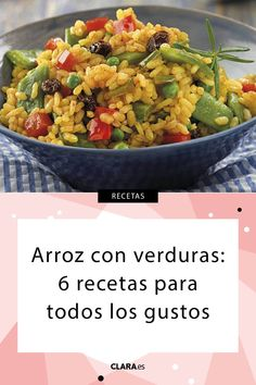 of with with vegetables recipes saludables sin verduras recetas faciles Vegetarian Dinners, Vegetarian Recipes, Healthy Recipes, Easy Recipes, Rice Recipes, Cooking Recipes, Vegetable Rice, Rice Dishes, Easy Meals