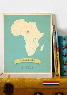 would be cute in camp's room with the heart over Ethiopia!!!
