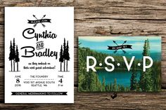 Retro Adventure Wedding Invitation and Reply Card by factorymade, $50.00