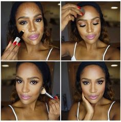 contouring/highlighting techniques for black women   Highlights