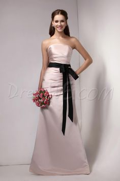 Dresswe.com SUPPLIES Ruched Sashes/Ribbons Trumpet/Mermaid Strapless Floor-Length Sandra's Bridesmaid Dress Bridesmaid Dresses 2014
