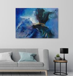 Outer Space Decorations, Blue Wall Decor, Cosmic Art, Galaxy Print, Oil Painting Abstract, Blue Walls, Art Market, Wooden Signs, Printmaking