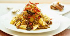 Chilean Recipes, Chilean Food, Japchae, Rice, Healthy Recipes, Healthy Food, Beef, Cooking, Ethnic Recipes