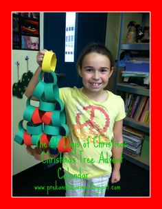 Countdown to Christmas Advent Tree Project via We Heart Art at PreK+K Sharing