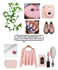 """""""Pretty in Pink"""" by sweeney-1 ❤ liked on Polyvore featuring WALL, Fujifilm, Retrò, MAC Cosmetics and The Wet Brush"""
