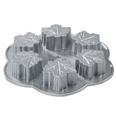 Nordic Ware Platinum Maple Leaf Muffin Pan: Amazon.co.uk: Kitchen & Home