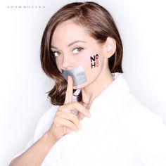 Rose McGowan - Actress - See more: http://www.noh8campaign.com/photo-gallery/familiar-faces-part-3/photo/...