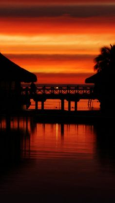 Sunset Moorea,  French Polynesia - this is EXACTLY how our last night there looked.., absolutely breath-taking...did not want 2 come home... Ever...DEF need 2 go back again someday...