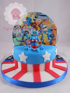 This Cake Features Both Captain America And Yoda