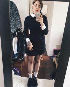 Vandinha adams #vandinha #familiaadams  #halloween #costumes #fantasia #cosplay #lookbook #cosplaygirl