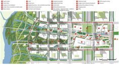 Image 5 of 16 from gallery of Transit Oriented City – Dongtan Central Business Master Plan / Ojanen Chiou Architects + SWA Group. plan and section Architecture Portfolio Template, Architecture Plan, Landscape Architecture, Architecture Diagrams, Landscape Designs, Landscape Plans, Urban Design Diagram, Site Plans, Master Plan