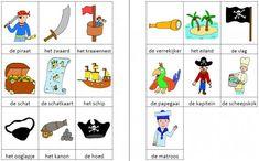Woordkaartjes piraten kleur Peter Pan, Kindergarten, Workshop, Teacher, Comics, School, Carnival, Treasure Island, Islands