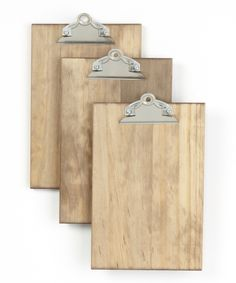 Weathered Wood Clipboard - Set of Three