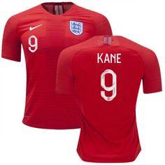 e1d7c405748 Men s England National 2018 Kane  9 Away Soccer Jersey Shirts