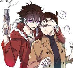 Detective Conan Shinichi, Anime Siblings, Magic For Kids, Kaito Kuroba, Detective Conan Wallpapers, Kaito Kid, Popular Manga, Cool Anime Guys, Kudo Shinichi