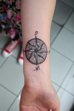 Image detail for -compass tattoo « OLIVER MACINTOSH TATTOO on we heart it / visual ...